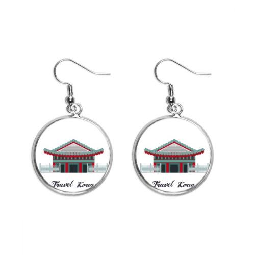 Traditional Palace in Korea Ear Dangle Silver Drop Earring Jewelry Woman