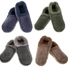 Snoozies Mens slippers Two Tone soft and cosy