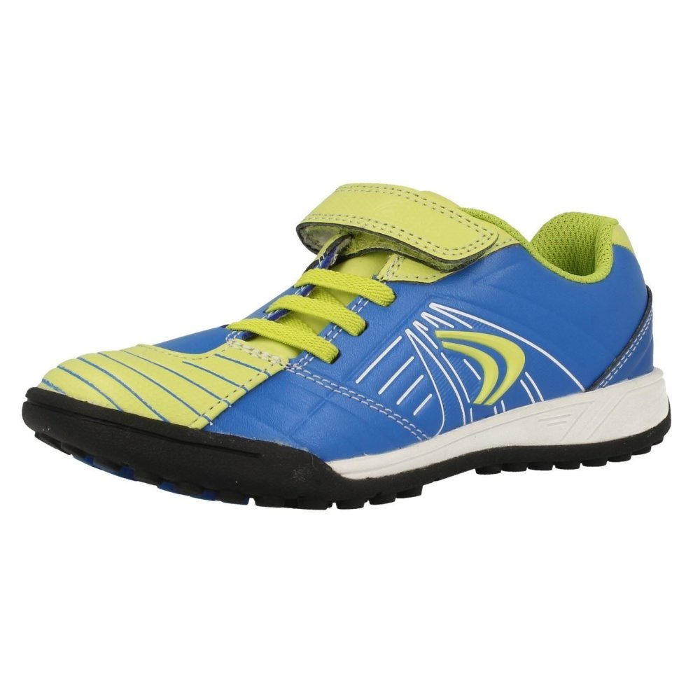 Boys Cica By Clarks Blue Synthetic Hook /& Loop Trainers G Fit