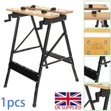 FOLDABLE WORKBENCH PORTABLE WOOD BENCH WORK CLAMPING FOLDING WORKTOP