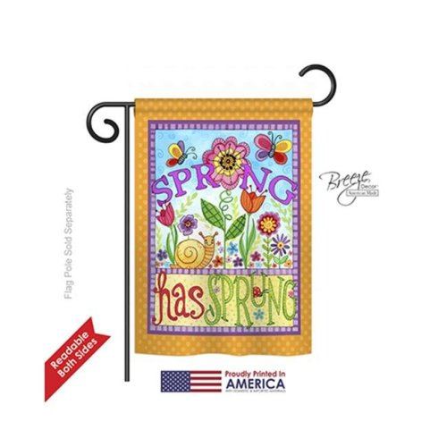 Breeze Decor 54087 Floral Bugs Spring 2-Sided Impression Garden Flag - 13 x 18.5 in.