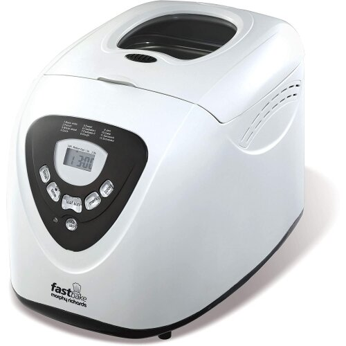 Morphy Richards 48281 Fastbake Breadmaker 3 Loaf Sizes, Gluten Free, Cool Touch, 600 W