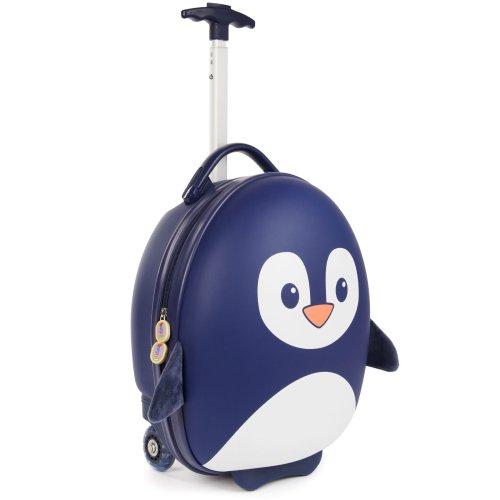 Boppi Tiny Trekker Wheeled Kids Luggage | Suitcase | Bag  Blue Penguin