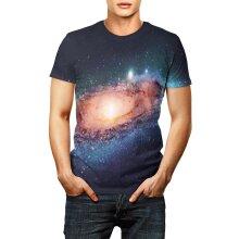 3D Printed Universe Starry Sky Astronaut T Shirt Men/Women Summer Short Sleeve Tops