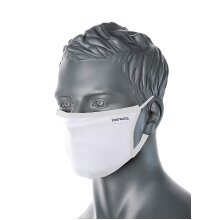 PORTWEST CV33 WHITE 3-Ply Anti-Microbial Fabric Face Mask