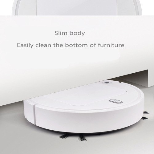 (White) Robot Vacuum Cleaner Home Cleaning