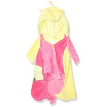 Kidorable Lotus Flower All-Cotton Yellow and Pink Hooded Towel for Girls w/Fun Flower Hood - Yellow - 3-6 Years