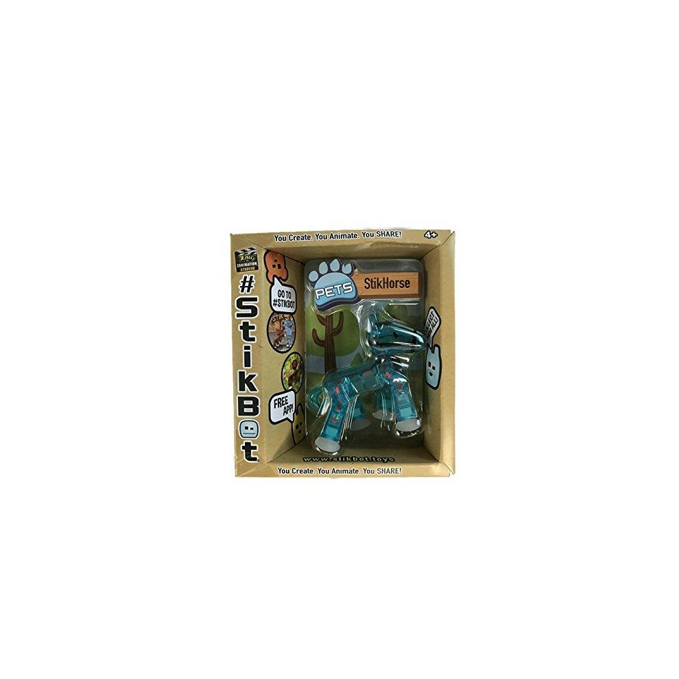 Translucent Blue StikHorse Figure Stikbot