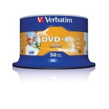 Verbatim 43533 DVD-R 4.7GB 16x Printable 50 Pack Spindle
