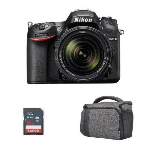 NIKON D7200 KIT AF-S 18-140MM F3.5-5.6G ED VR DX + Bag + 16gb SD card