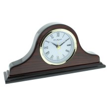 Wm.Widdop Napoleon Shaped Wooden Mantel Clock