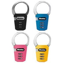 Master Lock 1550DAST AST Backpack Lock - Assorted Colors  pack of 24