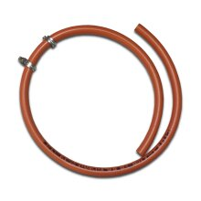 LPG 8mm Gas Hose - 1 metre - Propane Butane for BBQ Camping Caravan Motorhome + 2 Clips