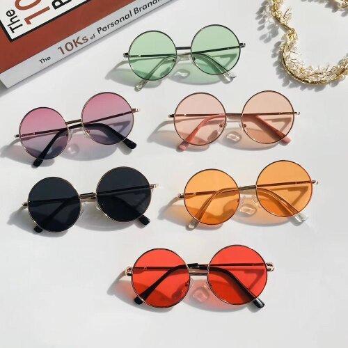 Simple Children Round Girls ANTI-UV Sunglasses