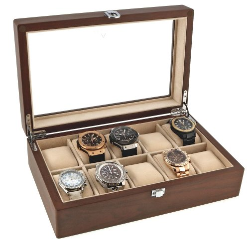 Natural Walnut Watch Collectors Box for 10 Wrist watches by Aevitas