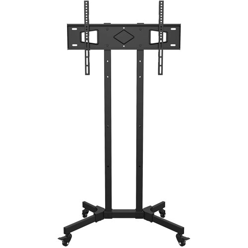 Mountright Mobile Trolley Display Cart, Tall TV Stand With Bracket on Wheels For 27 up to 65 Inch LED, LCD & Plasma Screens