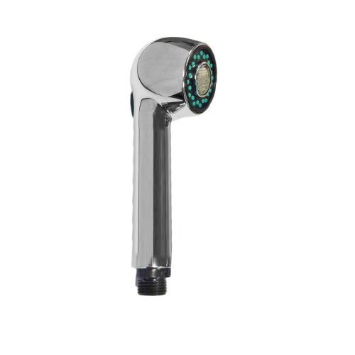 Shower spray two jets for extractable mixer, with button, limescale