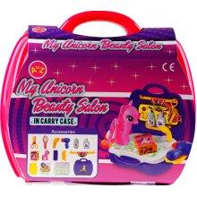 Unicorn Beauty Salon Pamper Shop In Carry Case - Toy Play Set