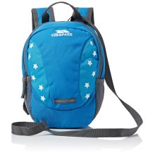 Trespass Kid's Tiddler Padded Backpack Rucksack Bag with Safety Rein Harness, Blue, 3 Litre