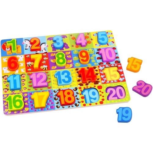 Wooden Numbers Puzzle - 20pcs