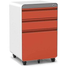Dripex Fully Assembled 3Drawer Mobile File Cabinet