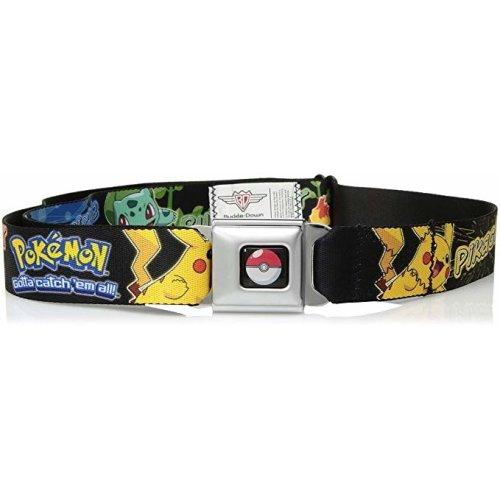 Seatbelt Belt - Pokemon - V.63 Adj 24-38' Mesh New pka-wpk125