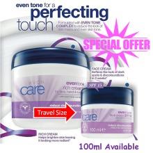 2 x AVON CARE  Even Tone SPF 15 Face Cream Travel Size 100ml