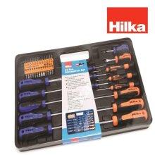 Hilka 42pc Screwdriver Set Slotted Pozi PZ Phillips PH Hex Torx TRX Bi