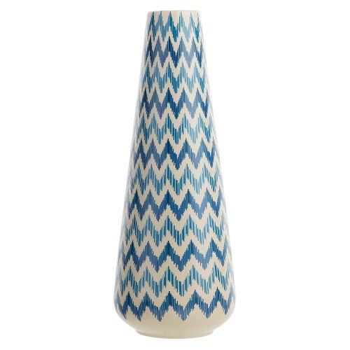 Flower Vase White with Blue CHIVA