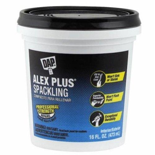 Dap 227680 Professional Strength Alex Plus Spackling, White - 16 oz.