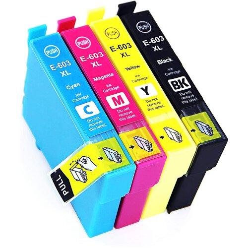 Lessint 603XL Ink Cartridges Compatible for Epson XP-2100 XP-2105 XP-3100 XP-3105  XP-4100 XP-4105 WF-2810 WF-2830 WF-2835 WF-2850 – Full Set