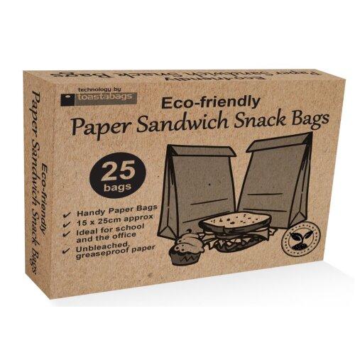 Planit Eco Friendly Paper Sandwich Bags Pack 25 [EPSB25CB]