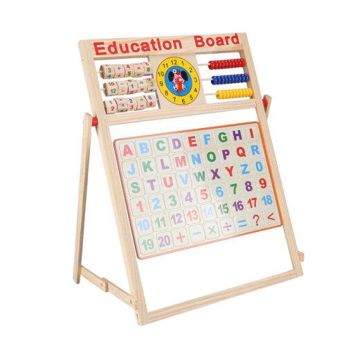 2-In-1 Children's Blackboard & Whiteboard Easel | Chalk Drawing Board