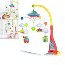 Baby Musical Bed Cot Mobile Soft Musical Dreams Projection Lullaby