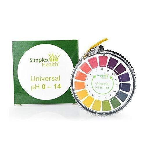 Simplex Health pH Indicator Litmus Test Paper Strip Roll, 0-14 for Water Urine and Saliva - 5 Meters