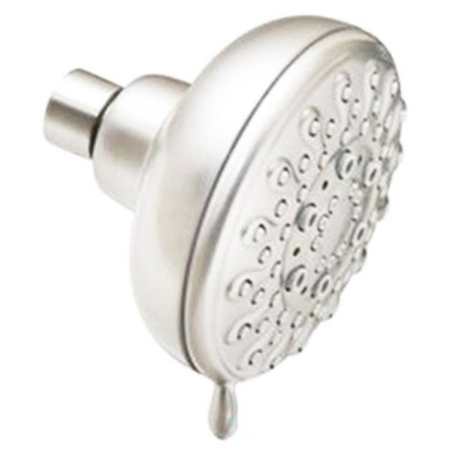 Disston 210547 4 in. 5 Function Brushed Nickel Fixed-Mount Shower Head