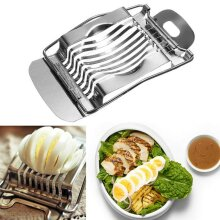 Kitchen Egg Slicer Stainless Steel Boiled Eggs Metal Cutter Section Cutting Tool