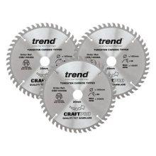 Trend 160mm x 48T x 20mm Triple pk Plunge Saw Blade