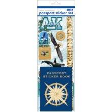Passport Sticker Sets PP59124 Passport or Scrapbooking Sticker Set Alaska