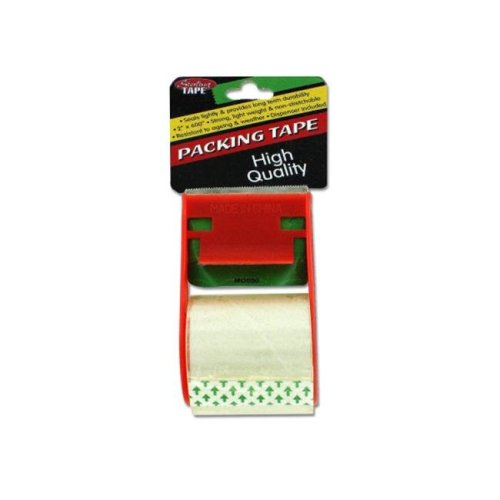 Packing tape with dispenser - Pack of 24
