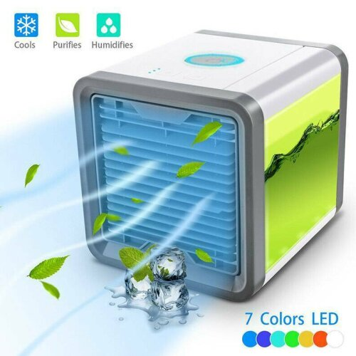 Portable USB Air Conditioner Cooler Humidifier Purifier Cooling Fans LED