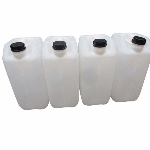 4 x 25 litre 25L 25000 ml new plastic bottle jerry can water container