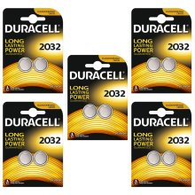 Duracell CR2032 Lithium Coin Cell Batteries 2032 DL2032 3V Battery 10 Pack