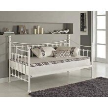 White 3ft daybed  metal guest day bed  sofabed frame