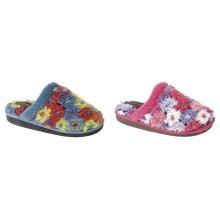 Sleepers Womens/Ladies Karlie Floral Thermal Lined Mule Slippers