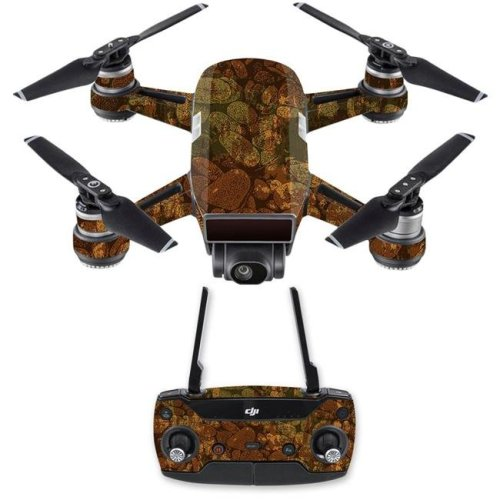 MightySkins DJSPCMB-River Stones Skin Decal for DJI Spark Mini Drone Combo Sticker - River Stones