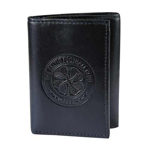 Celtic FC Official Football Gift Embossed Crest Leather Money Travel Wallet
