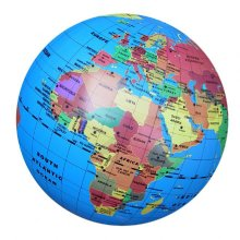 Eureka Toys 30cm Inflatable Globe