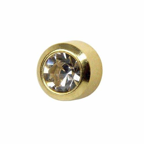 Caflon 24ct Gold Plated - April Crystal Birthstone Stud (1 Pair)