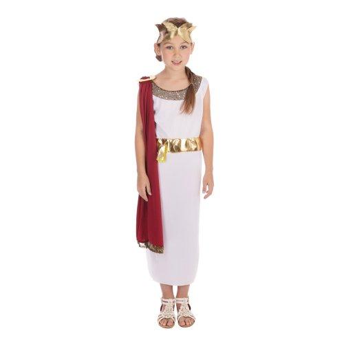 Kids Roman Greek Grecian Girl Toga Book Week Fancy Dress Costume